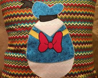 Donal Duck Easter Egg Throw Pillow