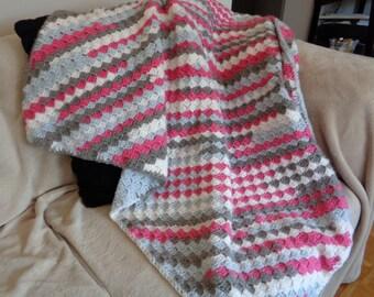 C2C Crochet Blanket - Throw