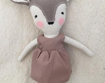 Grande poupée bambi chevreuil cerf faon peluche animal jouet bébé et enfant