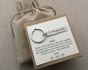 Father of the Bride Gift from Bride - Father of the Bride Gift Ideas- Father of the Bride Keychain - Father of the Bride Gifts Unique