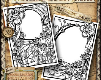 Coloring Page, Art Journal Page, Diary, Recipe, Printable