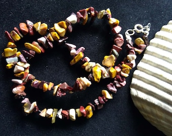 Mookaite Chip Bead Necklace