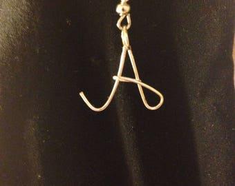Wire Letter Earrings
