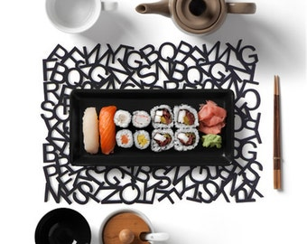 Felt Luncheon Mat-Scrambled letter,Housewarming Gifts,Home Decor,Table Mats Set of 2