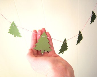 Pine Forest Tree Garland Green Shimmery Shiney 5 ft Holiday Decor Mantel Decoration