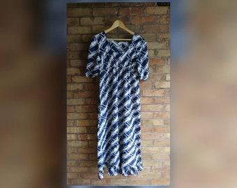 Vintage nautical full length dress