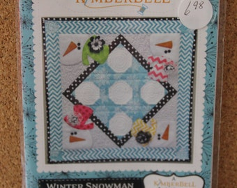 Winter Snowman Table Topper by Kimberbell KD161