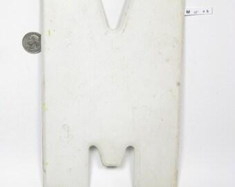 "10"" Vintage Metal Letter  M - Marquee Signage - Letter Sign - Monogram Initial - White Letter"