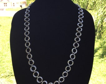 Rosette weave chainmaille necklace