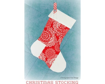Christmas Stocking Paper Pieced Pattern