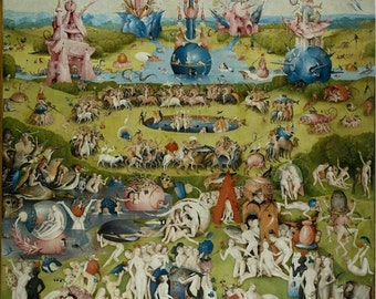 Hieronymus Bosch : Garden of Earthly Delights (Center Piece) (1490) Canvas Gallery Wrapped Giclee Wall Art Print (D50)