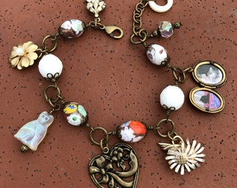 Kitty Love Charm Bracelet with Picture Locket