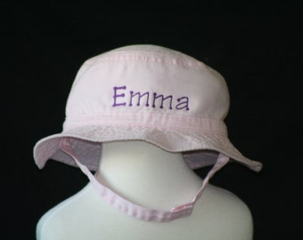 Bucket Hat Infant and Toddler Personalized with Chinstrap