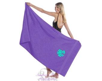 Monogrammed Terry Beach Towel