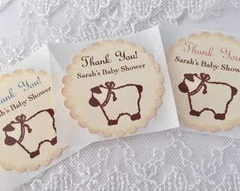 Baby Lamb Stickers Baby Shower Envelope Seals Set of 10