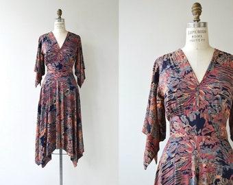 Pentimenti dress | vintage 1970s dress | floral print 70s dress