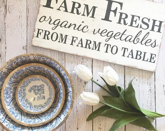 Farm Sign, Farmhouse Sign, Farm Fresh Sign, Rustic Sign, Distressed Sign, Fixer Upper Decor, Organic Sign