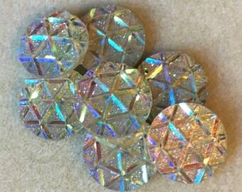 6pc Round rhinestone gem