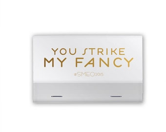 You Strike My Fancy 40 Strike - Personalized Party Favors, Party Favors, Custom Matchbook Favors, Foil Stamped Match Books