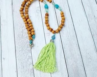 Boho Chic Sandalwood Necklace