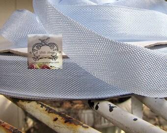 Rayon Seam Binding Ribbon Lace Blue