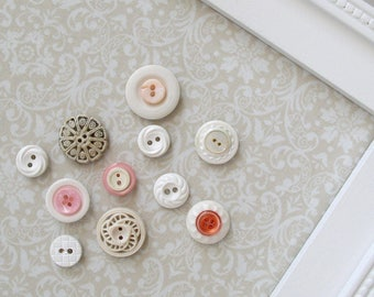 Vintage Style Button Magnets - Set of 50 in Your Choice of Colors - For Magnetic Memo Bulletin Boards Extra STRONG