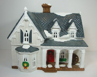 Dept 56 Snow Village Gothic Farmhouse American Architecture Series 1991 5404-6 Free Shipping