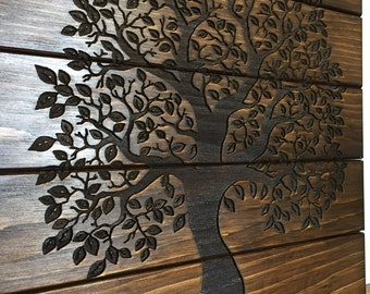 Tree of Life, Home Decor, Wooden Sign, Rustic Wall Decor, Laser Engraved