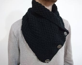 button scarf, man gifts, Lancaster scarf, harbour scarf, boyfriend gift, 3 button scarf,