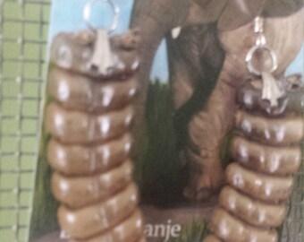 Large rattlesnake tail earrings