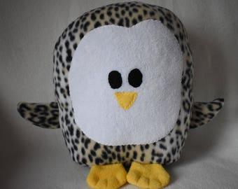 Plush Cheetah Print Penguin Pillow Pal