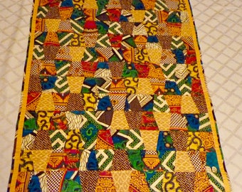 Quilt African Fabric From Malawi Lap/Throw/Baby Quilt