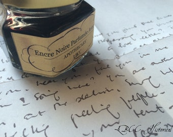 Rose Scented Black Dipping Ink - Historical Letter Writing