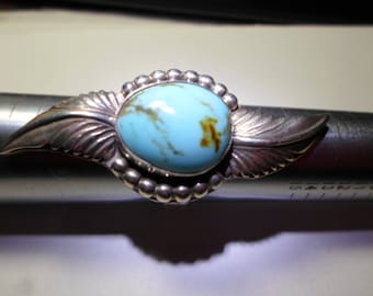 Kingman Turquoise... Ring... sterling silver, size 7 1/2