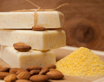 Cornmeal & Almond - Moisturizing Glycerin Soap - Delightfully Fragrant and Gently Exfoliating