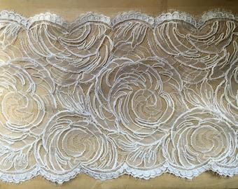 White Alencon Lace