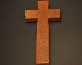 """Wood Cross; Christian Gift; Home Decor; Wood Gifts; Wedding Gift; Sympathy Gift; Mesquite;5""""x9""""x1""""; Free Ground Shipping USA; cc20-4061517"""