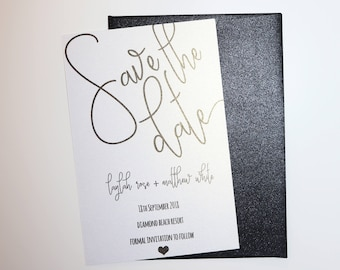 Save the date cards with envelope Handmade Personalised Printable