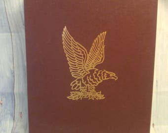Vintage Leather Bound  The National Museum of American History Book with Case by Shirley Abbott
