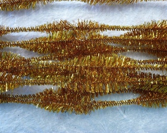 Vintage Gold Bump Metallic Tinsel Stems  (12)