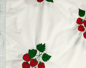 Embroidered Strawberry Table Cloth