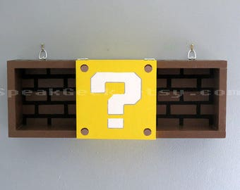 Super mario bros shelf shadow box shelf modern question