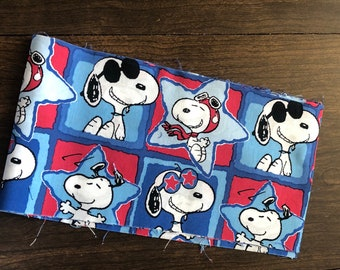 Snoopy Red White and Blue fabric