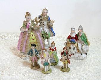 Romantic Couple Porcelain Figurine Collection Six Pieces