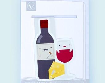 Wine Magnetic Bookmark (Jumbo)