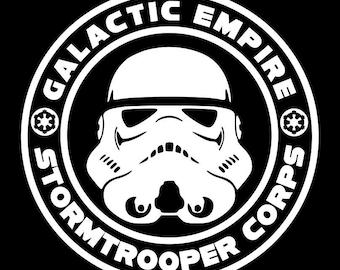 Star Wars Galactic Empire Stormtrooper Vinyl sticker  decal decorative
