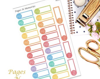 PTO Planner Stickers/School  Blank Stickers/ Erin Condren/ Plum Paper/ Inkwell Press/ Happy Planner/ Functional Stickers  #213