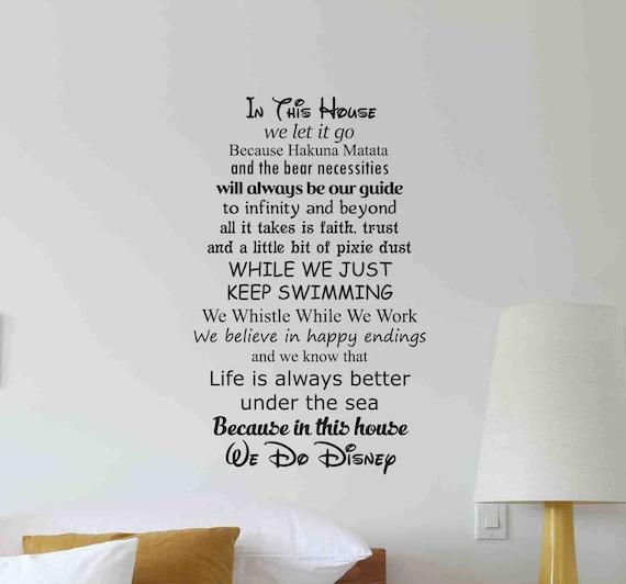 Dans Cette Maison Nous Faisons Disney Wall Sticker Citation