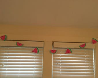 Watermelon Garland Hand Painted Watercolor