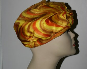 VINTAGE PSYCHEDLIC 1960's TURBAN Style Hat